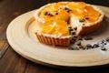 Картинка апельсин, пирог, кофейные зерна, выпечка, сахарная пудра