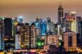 Картинка ночь, город, дома, Shanghai