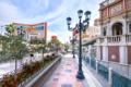 Картинка США, Невада, фонарь, Лас-Вегас, улица, дома, утро