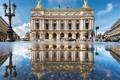 Картинка отражение, Франция, Париж, театр, опера