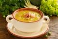 Картинка суп, зелень, оформление, пюре