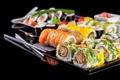 Картинка суши, sushi, начинка, роллы, зелень, rolls, Japanese kitchen