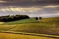 Картинка небо, свет, поля, долина