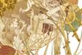 Картинка птица, Девушка, листы, мечи