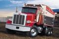 Картинка небо, красный, грузовик, передок, Peterbilt, Dump Truck, 367