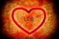 Картинка любовь, оранжевый, красный, фон, настроение, сердце, чувства