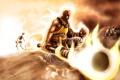Картинка fire, skeleton, Diablo 3 Monk
