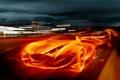 Картинка машина, авто, огонь, Flames
