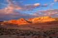Картинка небо, закат, горы, скалы