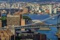 Картинка здания, пролив Ист-Ривер, Вильямсбургский мост, Manhattan Bridge, Нью-Йорк, East River, панорама