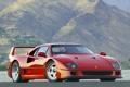 Картинка Ferrari, Феррари, F40, supercar, фон, горы