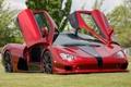 Картинка Shelby Super Cars, Ultimate Aero, двери, суперкар, SSC, передок, красный