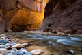 Картинка свет, река, камни, каньон, ущелье