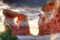 Картинка долина монументов, камни, скалы, юта, природа, сша