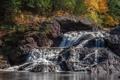 Картинка осень, каскад, Michigan, Great Conglomerate Falls