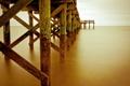 Картинка опоры, пейзаж, мост, море