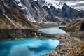 Картинка природа, камни, горы, озера, снег