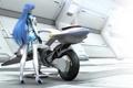 Картинка девушка, свет, мотоцикл, Xenosaga, Kos-mos