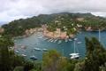 Картинка город, фото, бухта, причал, Италия, пирс, сверху