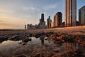 Картинка город, утро, Чикаго, США, Chicago, illinois, Иллиноис