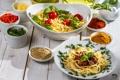 Картинка макароны, pasta, spices, специи, спагетти, еда, зелень