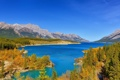 Картинка лес, горы, озеро, Канада, Альберта, Alberta, Canada