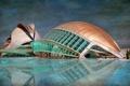 Картинка небо, здание, бассейн, hdr, Испания, Валенсия
