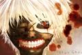 Картинка лицо, маска, anime, art, Tokyo Ghoul, Ken Kaneki