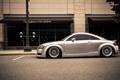 Картинка Audi, ауди, профиль, серебристая, stance