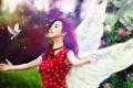 Картинка девушка, птицы, настроение