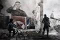 Картинка Ким Чен Ын, лидер, плакат, Homefront, солдат, КНДР, велосипед
