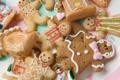 Картинка праздник, печенье, рожицы