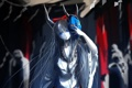 Картинка девушка, маска, рога, иероглиф, touhou, традиционная одежда, ibuki suika
