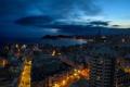 Картинка ночь, город, Spain, Benidorm