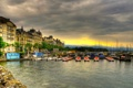 Картинка дома, Швейцария, порт, архитектура, Switzerland, деревья., Женева
