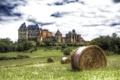 Картинка природа, город, фото, замок, Франция, HDR, сено