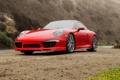 Картинка 911, Porsche, порше, красная, каррера, 2015, Carrera 4S