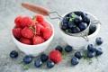 Картинка ягоды, малина, черника, листочки, голубика, Anna Verdina
