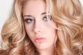 Картинка взгляд, девушка, модель, волосы, макияж, блондинка