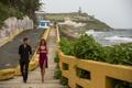 Картинка дорога, море, побережье, прибой, прогулка, Джемма Артертон, Джастин Тимберлэйк