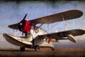 Картинка стиль, фон, seaplane, grumman, J2F6 duck