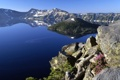 Картинка landscape, синева, лазурь, горы, озеро, скала