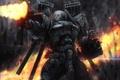 Картинка огонь, бой, костюм, автомат, Солдат, броня, гильзы
