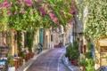 Картинка цветы, город, весна, Greece