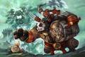 Картинка оружие, монстр, арт, панда, World of Warcraft, бочка, Mists of Pandaria
