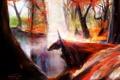 Картинка осень, воин, fallen