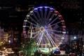 Картинка ночь, город, огни, дома, колесо, Германия, Рождество