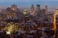 Картинка Зима, Вечер, Город, Канада, Монреаль