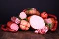 Картинка фото, Еда, Колбаса, Мясные продукты