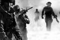 Картинка оружие, дым, солдаты, Call of duty mw3